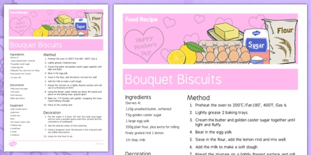 Elderly Care Mother's Day Food Recipe - Elderly, Reminiscence, Care Homes, Mother's Day