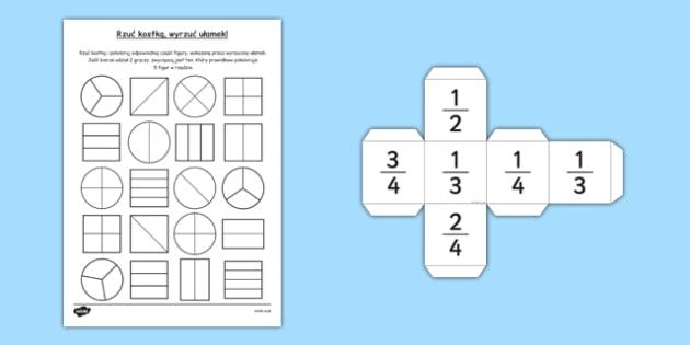 Labirynt z ułamkami po polsku - matematyka, ułamki, procenty , worksheet