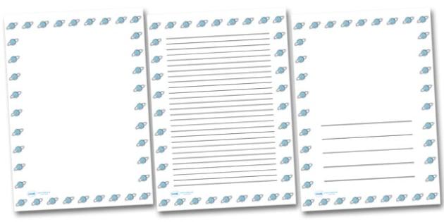 Uranus Portrait Page Borders- Portrait Page Borders - Page border, border, writing template, writing aid, writing frame, a4 border, template, templates, landscape