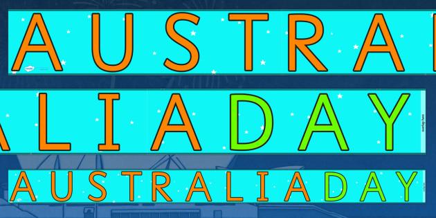 Austalia Day Display Borders - display, dispaly border, border, australia day display, australia day borders, australian display borders, classroom display border, border for a display, edging, display edging