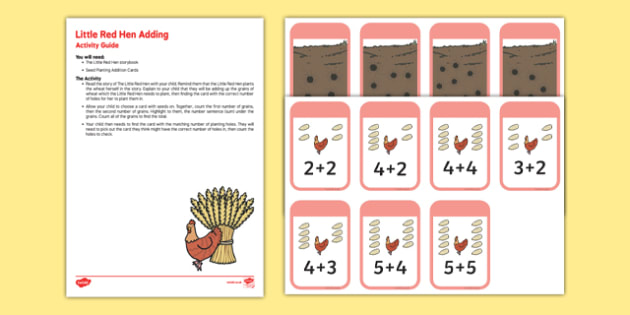 The Little Red Hen Adding Busy Bag Resource Pack for Parents