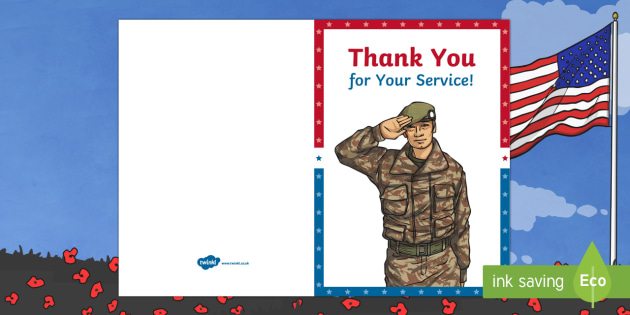 Thank You Veterans Cards