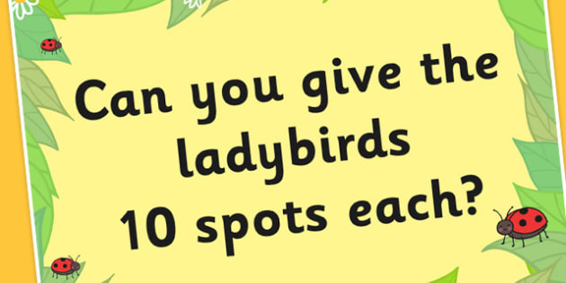 Can You Give the Ladybirds 10 Spots Each on a Poster - posters