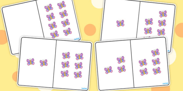 Butterfly Counting Number Bonds to 8 - counting, number, bonds, 8
