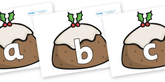 Phoneme Set on Christmas Puddings - Phoneme set, phonemes, phoneme, Letters and Sounds, DfES, display, Phase 1, Phase 2, Phase 3, Phase 5, Foundation, Literacy