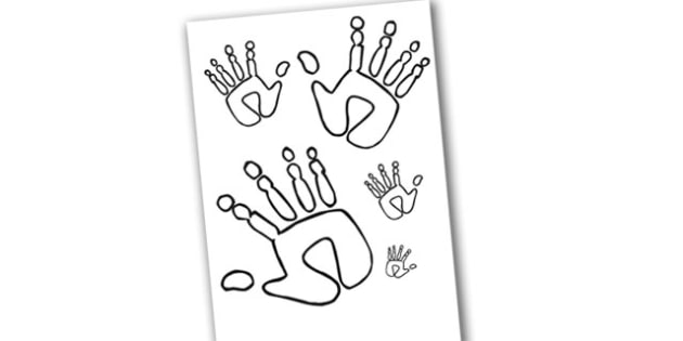 Handprint Size Ordering - handprint, size ordering, sizes, ordering, handprint ordering, handprint sizes, size ordering activity, size and shape, shapes