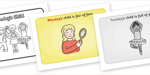 Monday's Child Sequencing - Monday's Child, sequencing, nursery rhyme, rhyme, rhyming, nursery rhyme story, nursery rhymes, days of the week, weekdays, Monday's Child resources, day