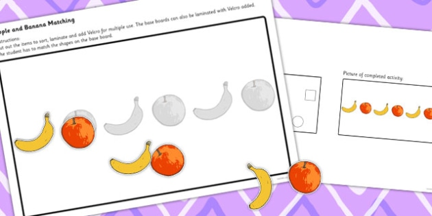 Workstation Pack Fruit Matching Activities Set 2 - match