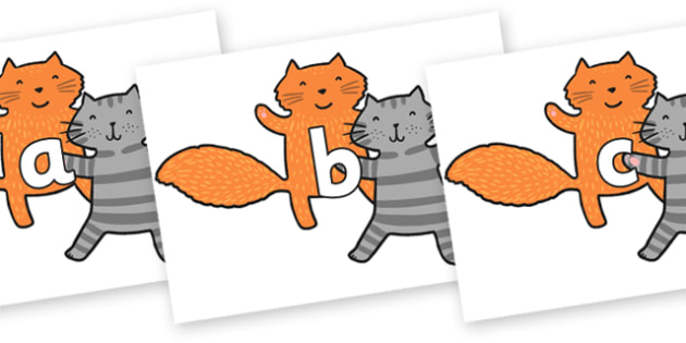 Phase 2 Phonemes on Cats to Support Teaching on What the Ladybird Heard - Phonemes, phoneme, Phase 2, Phase two, Foundation, Literacy, Letters and Sounds, DfES, display