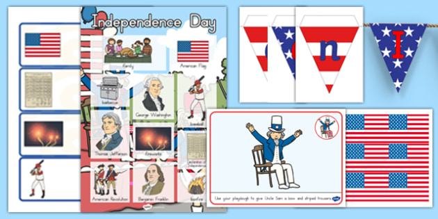 American Independence Day Classroom Decoration Pack - usa, independence day