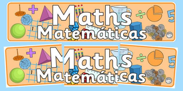Maths Display Banner Spanish Translation - spanish, mathematics display banner, maths display banner, maths banner, mathematics display, mathematics, numeracy