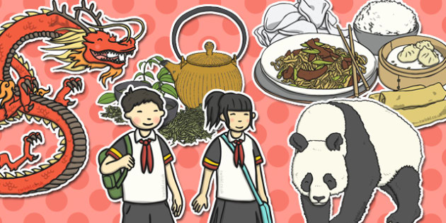 China Themed Cut Outs - china, cut outs, country, geography