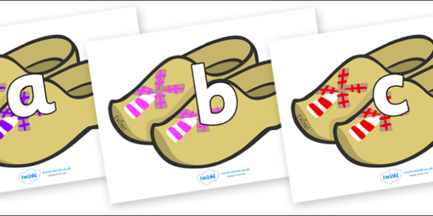 Phoneme Set on Wooden Shoes - Phoneme set, phonemes, phoneme, Letters and Sounds, DfES, display, Phase 1, Phase 2, Phase 3, Phase 5, Foundation, Literacy