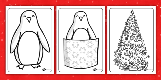 Monty the Penguin Colouring Sheets - monty, penguin, colouring
