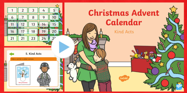 Acts of Kindness Advent Calendar - Christmas, kindness, advent, advent calendar, caring, friendship, relationships