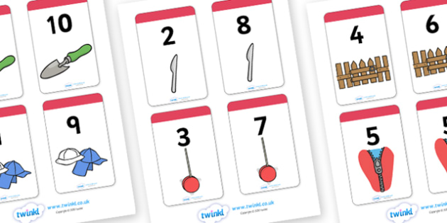 Number Bonds to 10 Matching Cards (Everyday Items) - Number Bonds, Matching Cards, Number Bonds to 10