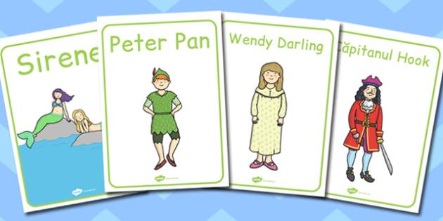 Peter Pan, Postere cu  imagini  din poveste, poze cu Peter Pan, Romanian