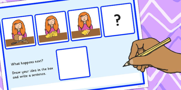 What Happens Next? Fill in the Blank Worksheet for 'Making a Sandwich' - happens, next, sandwich