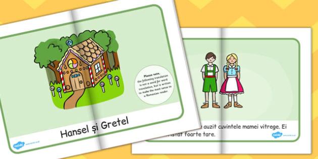 Hansel si Gretel, rezumat cu imagini, poveste ilustrata, eBook, Romanian