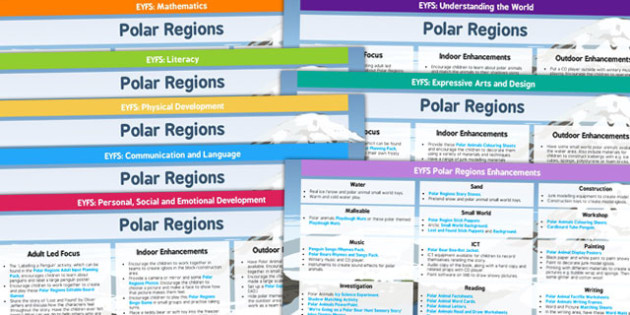 EYFS Polar Regions Lesson Plan and Enhancement Ideas - arctic, lesson plan, EYFS, lesson