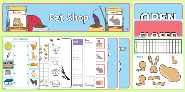 Top Ten Pets Resource Pack - Pets, pet shop, vets, my pets