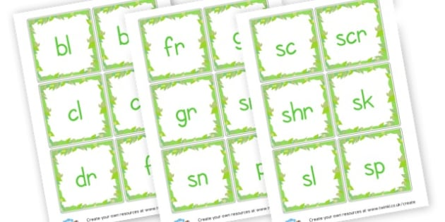 Phase 4 Blends Forest Themed Cards - Phase 4 Visual Aids Primary Resources, Phase One, Letters, sounds