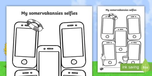 Somervakansies selfies skryfraam - somer, vakansies, vakansie, selfie, skryfraam, foto, portret.
