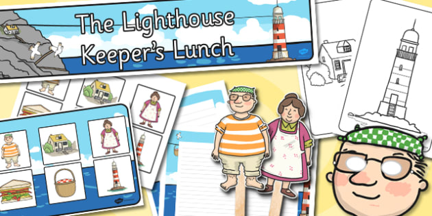 Childminder Resource Pack to Support Teaching on The Lighthouse Keeper's Lunch - childminder