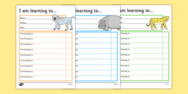 Safari Themed Target and Achievement Sheets - safari, target and achievement, target, achievement, sheets