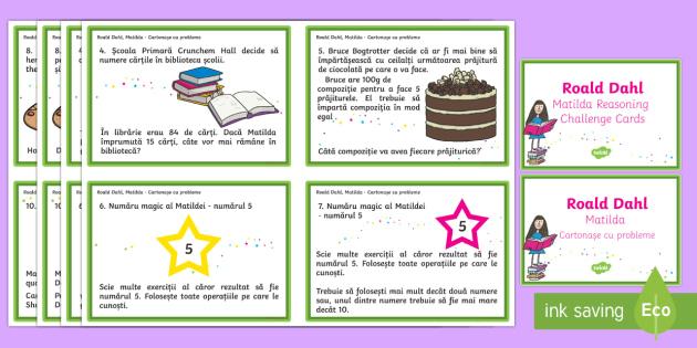Matilda Reasoning Year 2 Challenge Cards English/Romanian