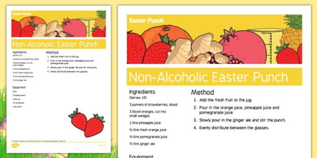 Elderly Care Easter Non-Alcoholic Drink Recipe - Elderly, Reminiscence, Care Homes, Easter