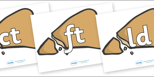 Final Letter Blends on Egyptian Flatbread - Final Letters, final letter, letter blend, letter blends, consonant, consonants, digraph, trigraph, literacy, alphabet, letters, foundation stage literacy