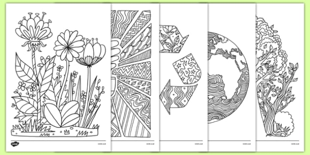 Earth Day Mindfulness Coloring Sheets - usa, america, earth day, mindfulness, coloring sheets, coloring, sheet, color