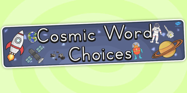 Cosmic Word Choices Banner - australia, cosmic, choices, banner