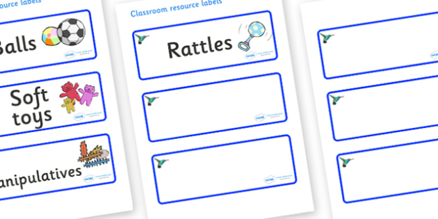 Hummingbird Themed Editable Additional Resource Labels - Themed Label template, Resource Label, Name Labels, Editable Labels, Drawer Labels, KS1 Labels, Foundation Labels, Foundation Stage Labels, Teaching Labels, Resource Labels, Tray Labels, Printa