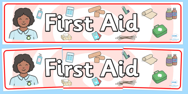 First Aid Display Banner - first aid, display banner, banner for display, banner, display, display header, header, header for display, banner display