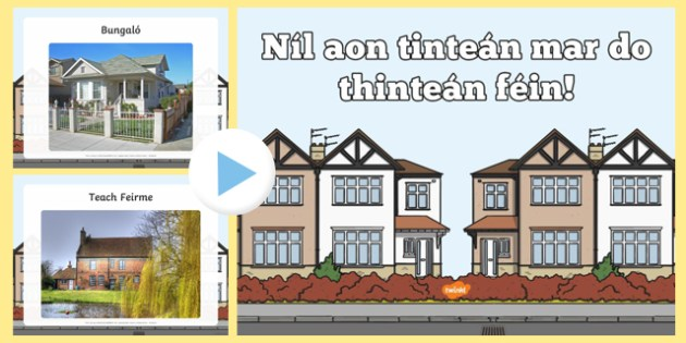 Types of Home Photo Display PowerPoint - Irish