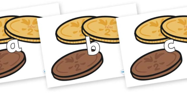 Phase 2 Phonemes on Chocolate Coins - Phonemes, phoneme, Phase 2, Phase two, Foundation, Literacy, Letters and Sounds, DfES, display