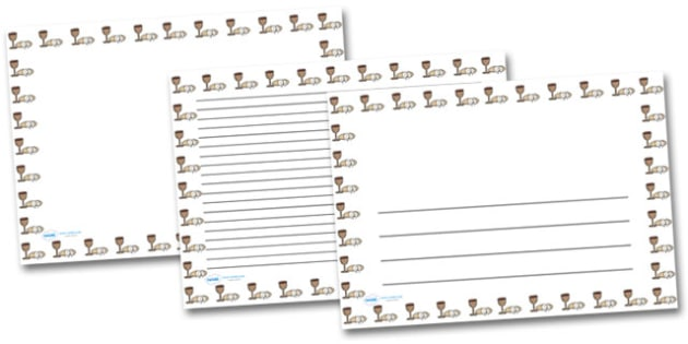 Bread and Wine Landscape Page Borders- Landscape Page Borders - Page border, border, writing template, writing aid, writing frame, a4 border, template, templates, landscape
