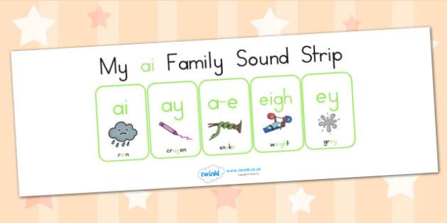 My Ai Family Sound Strip - sound family, visual aid, literacy