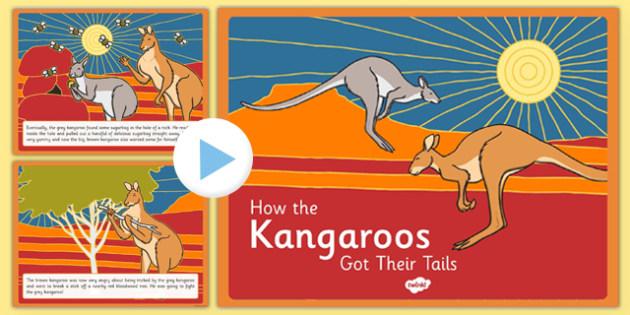 Aboriginal Dreamtime How the Kangaroos Got Their Tails Story - australia, aboriginal, story, dreamtime, how the kangaroos got their tails, tale