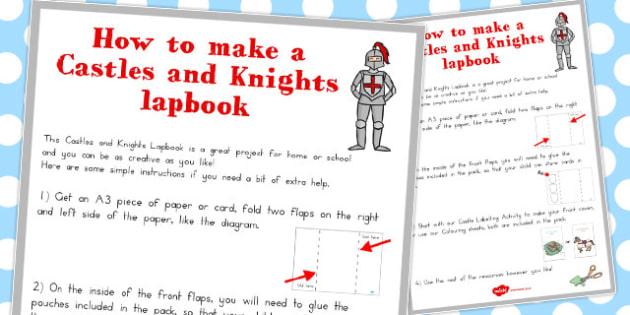Castles and Knights Lapbook Instruction Sheet - australia, castle