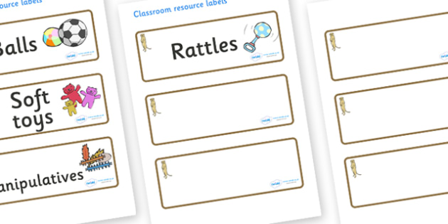 Meerkat Themed Editable Additional Resource Labels - Themed Label template, Resource Label, Name Labels, Editable Labels, Drawer Labels, KS1 Labels, Foundation Labels, Foundation Stage Labels, Teaching Labels, Resource Labels, Tray Labels, Printable