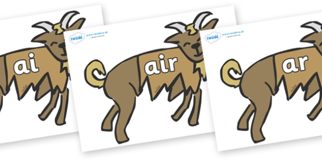 Phase 3 Phonemes on Little Billy Goat Gruff - Phonemes, phoneme, Phase 3, Phase three, Foundation, Literacy, Letters and Sounds, DfES, display