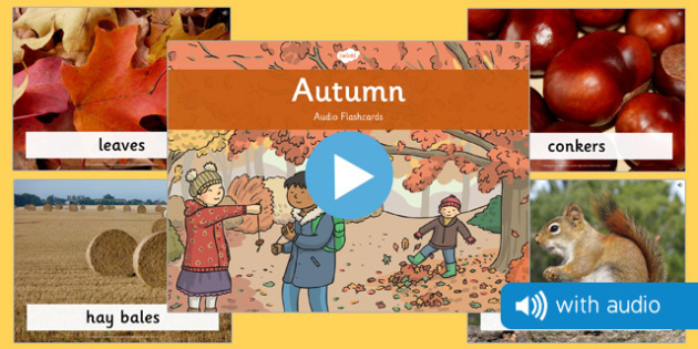 Autumn Audio Flashcards - autumn, audio, flashcards, season, flash cards