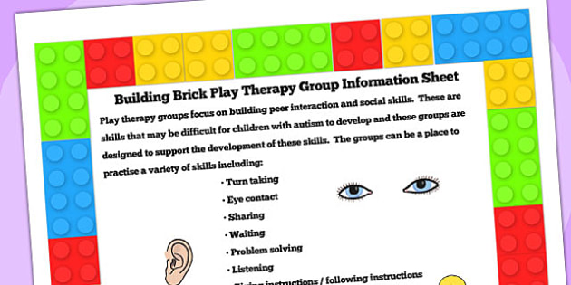 Building Brick Therapy Group Information Sheet - SEN, therapy