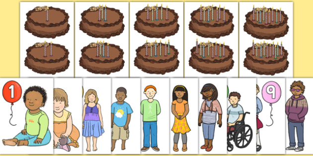Birthday Counting Activity Resource Pack - birthday, counting, activity, resource pack