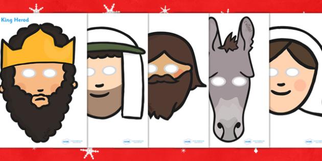 Nativity Themed Role Play Masks - nativity, role play, masks