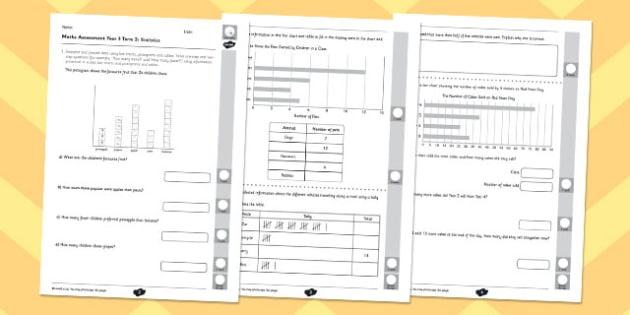 Year 3 Maths Assessment: Statistics Term 2 - year 3, maths, assessment, statistics