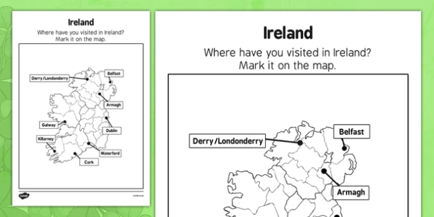 Elderly Care St Patrick's Day Ireland Map - Elderly, Reminiscence, Care Homes, St. Patrick's Day